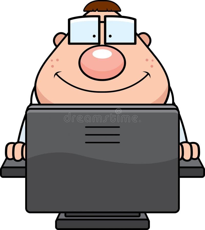 Computer Nerd vector illustratie