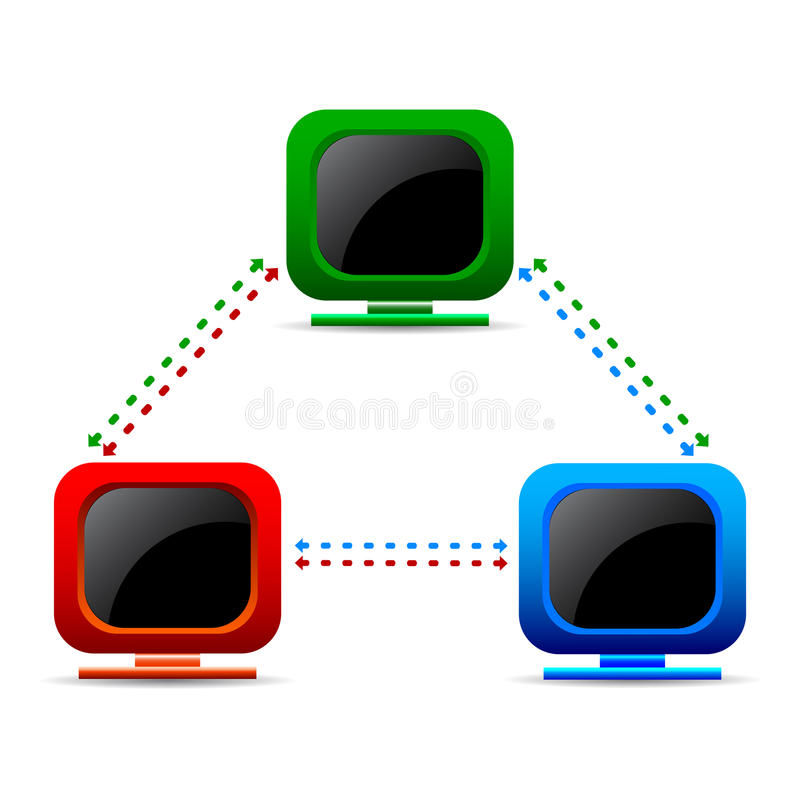 Download Computer network stock vector. Image of ethernet, data - 24042321