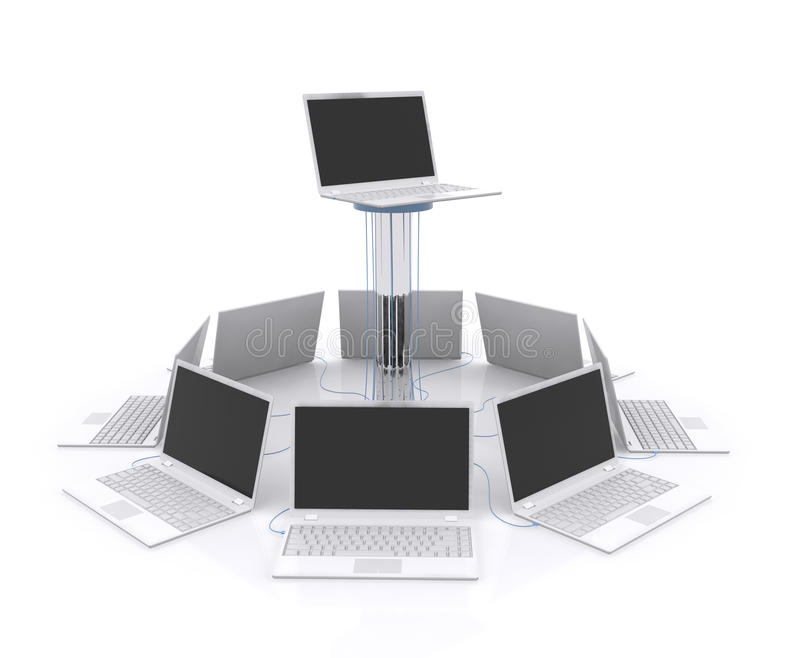 Computer Network. stock illustration