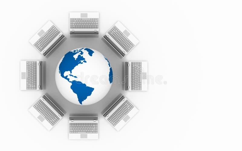 Computer Network. royalty free illustration