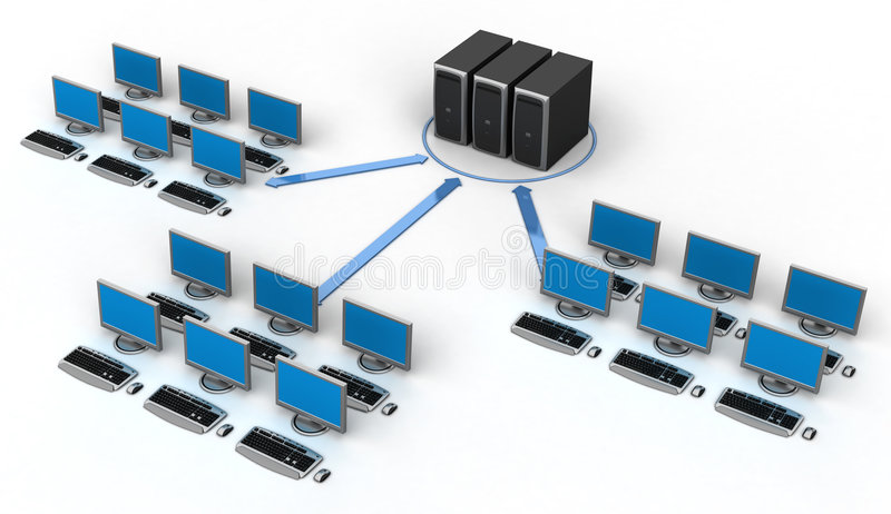 Computer Network vector illustration