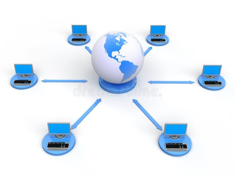 Computer Network vector illustration