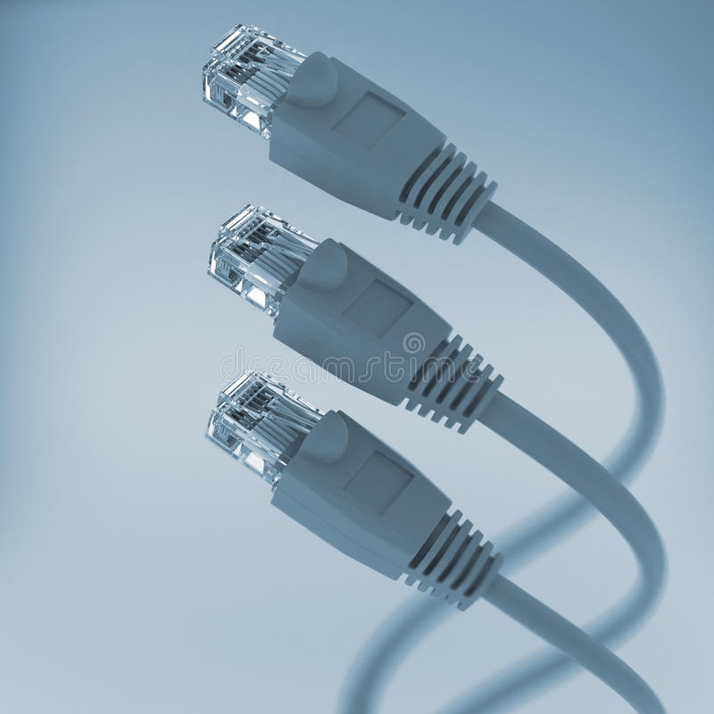 Computer Network Cable (tint color) royalty free stock photography