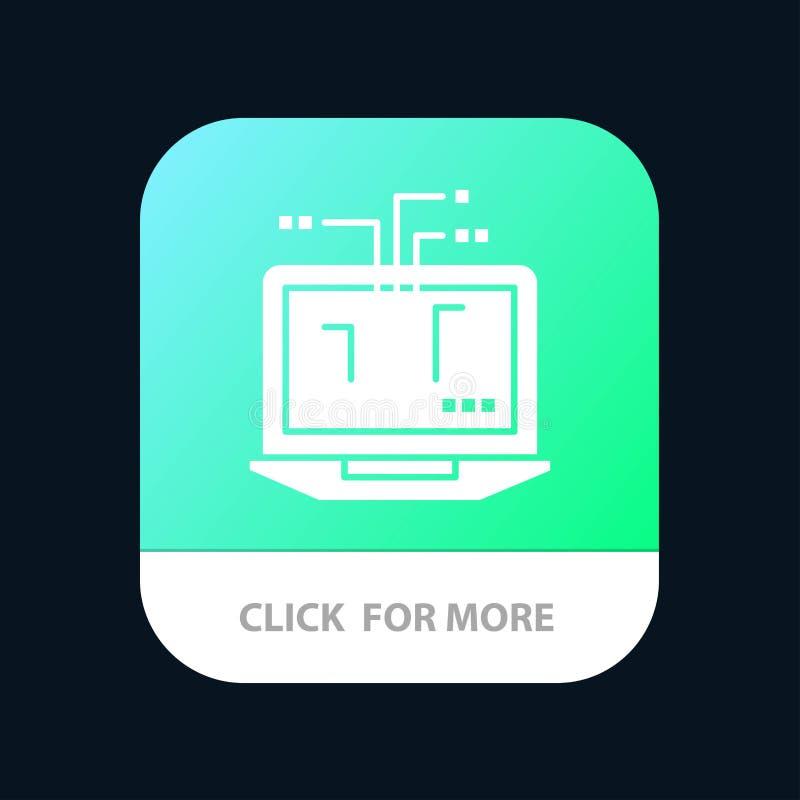 Computer, Network, Laptop, Hardware Mobile App Icon Design royalty free illustration