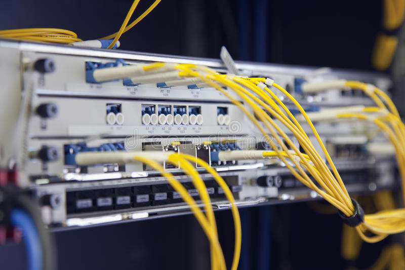Computer network switch or hub stock photography