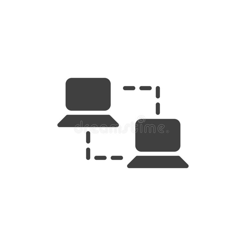 Computer network vector icon stock illustration