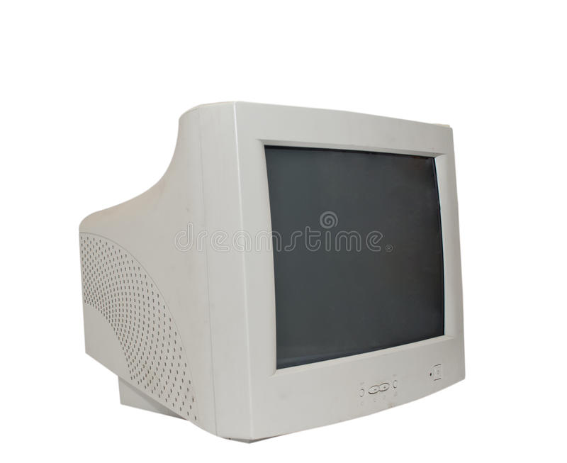 Computer-old monitor stock image