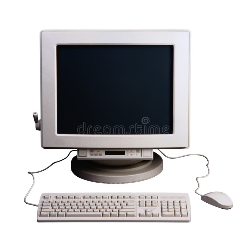Computer Old Style royalty free stock photos