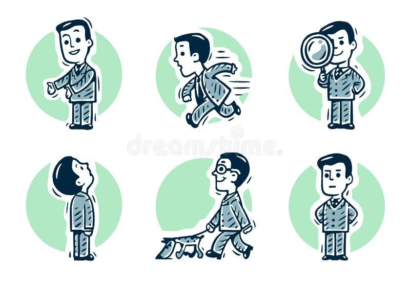Computer, onderzoek, weg, pictogram vector illustratie