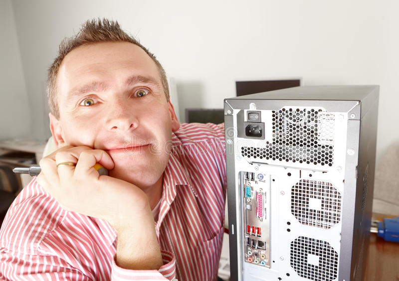 Computer Owner Royalty Free Stock Image