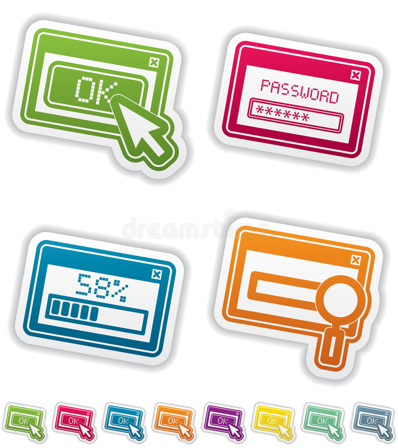 Download Computer parts stock vector. Image of button, browser - 26289195