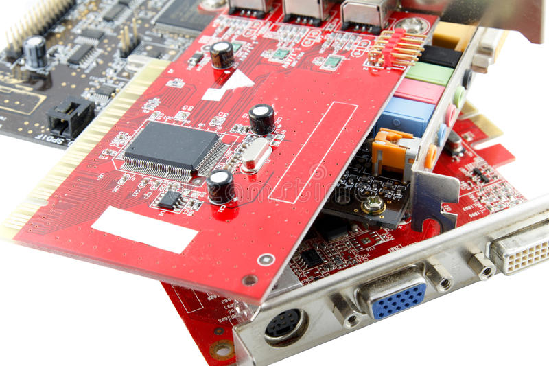 Download Computer parts stock image. Image of electronic, card - 26576485