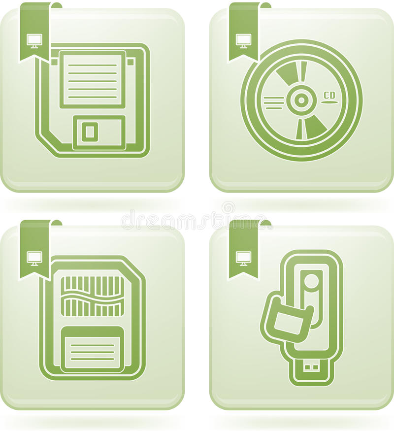 Computer parts stock illustration
