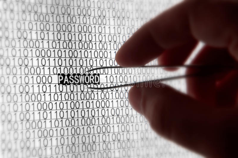 Computer Password Security royalty free stock photography