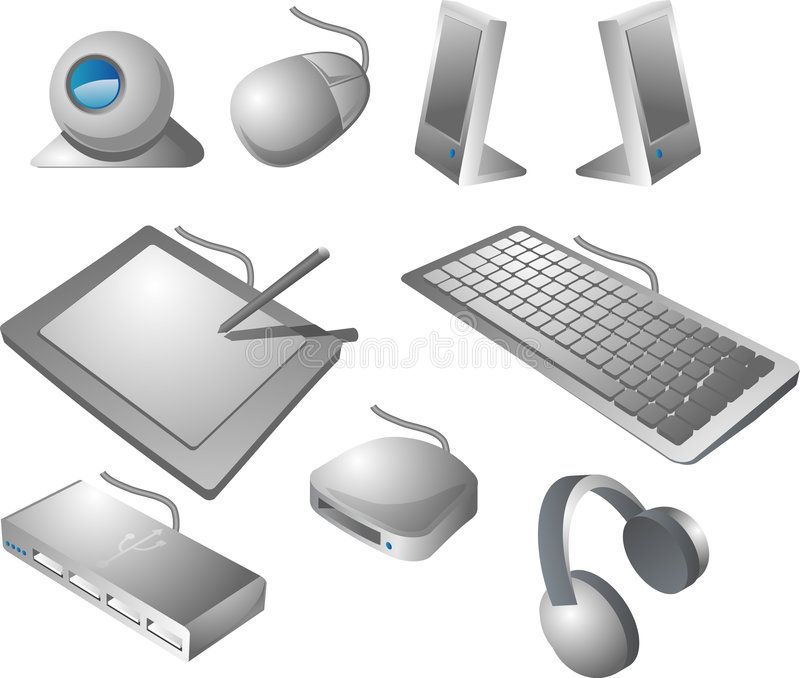 Download Computer peripherals stock illustration. Image of accessories - 1217771