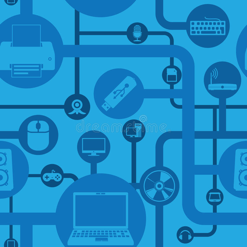 Download Computer And Peripherals Pattern Royalty Free Stock Photos - Image: 33530958