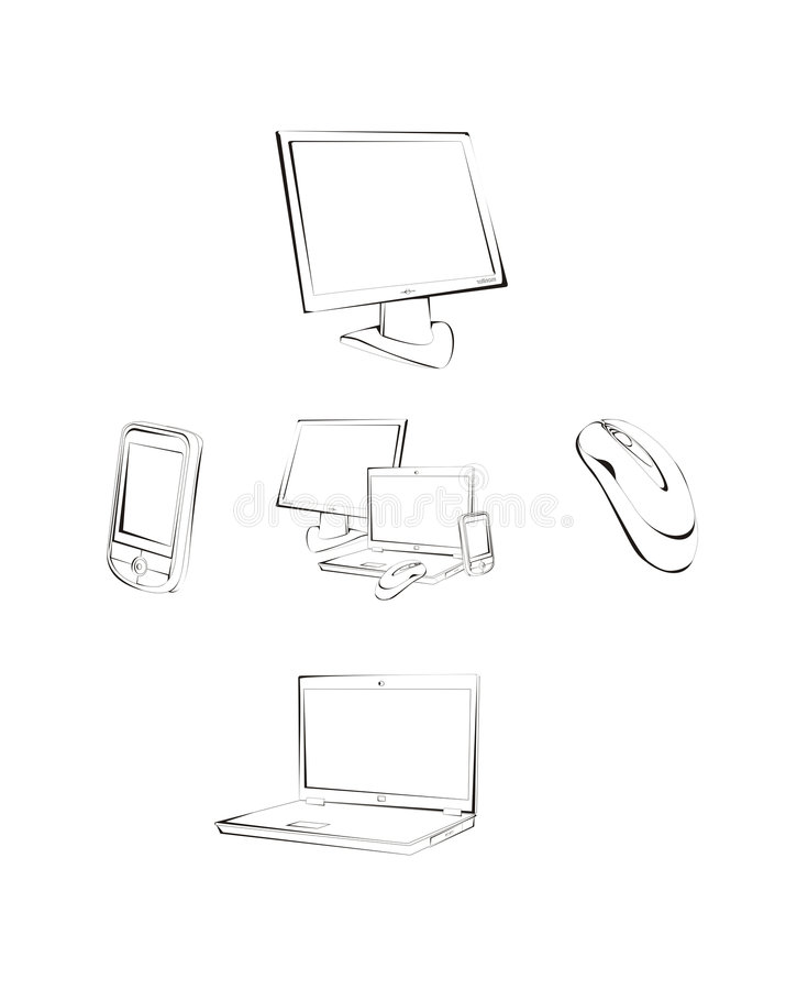 Download Computer periphery stock vector. Image of icon, laptop - 6045018