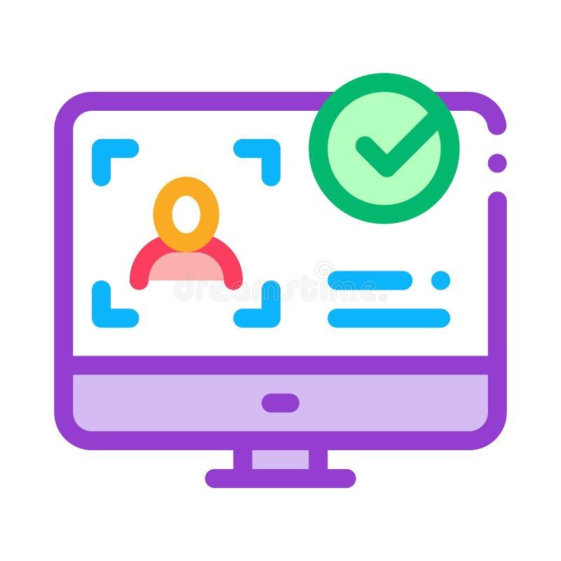 Digital Crime Icon, Identity Theft Stock Vector