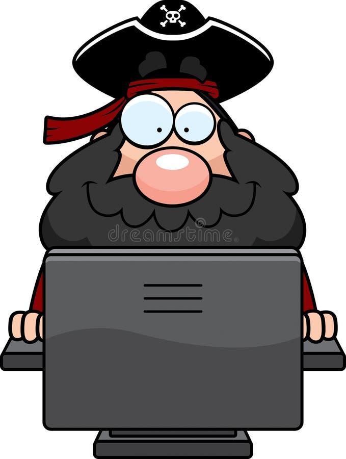 Computer-Pirat vektor abbildung