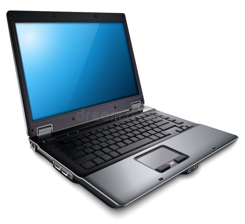Computer portatile, calcolatore moderno illustrazione di stock