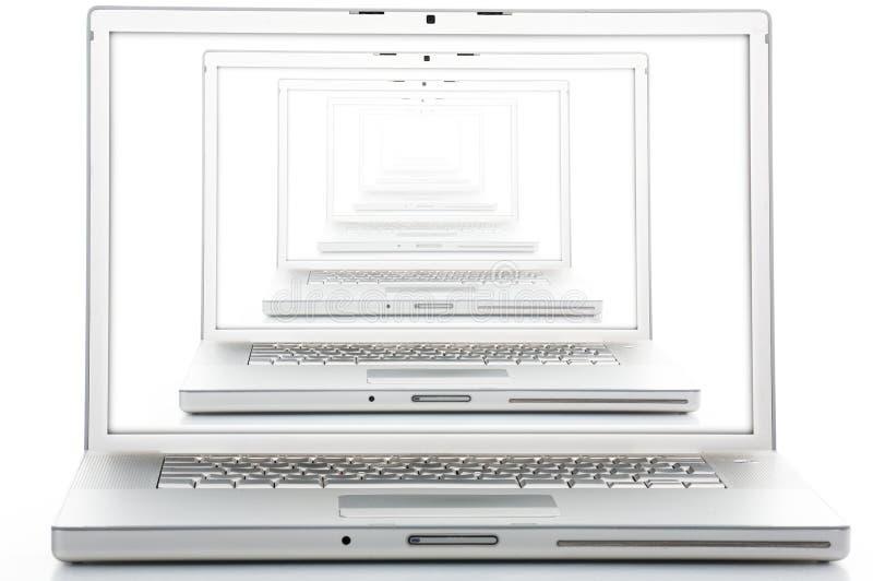 Computer portatile in computer portatile fotografia stock