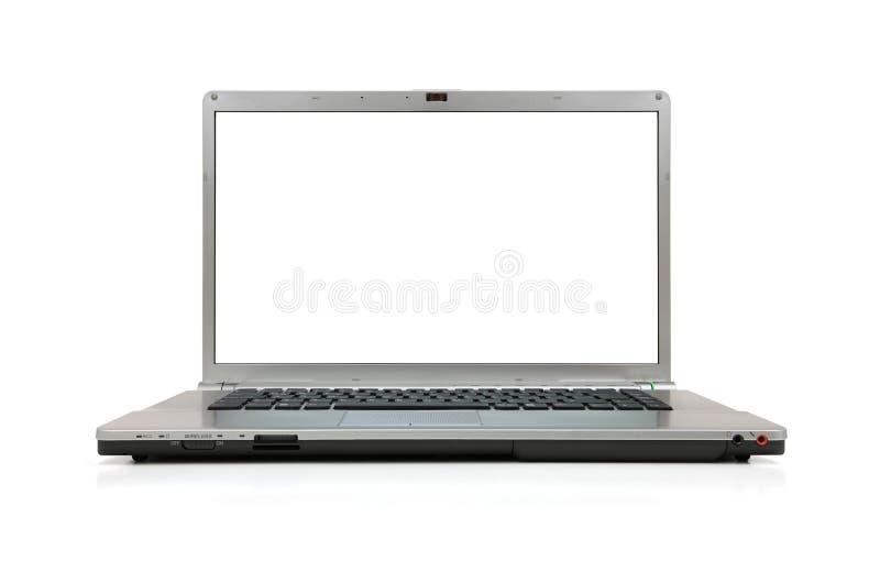 Computer portatile dello schermo in bianco immagini stock libere da diritti