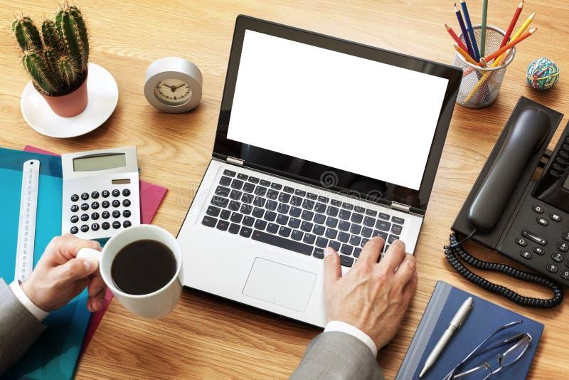 Computer portatile di affari immagine stock