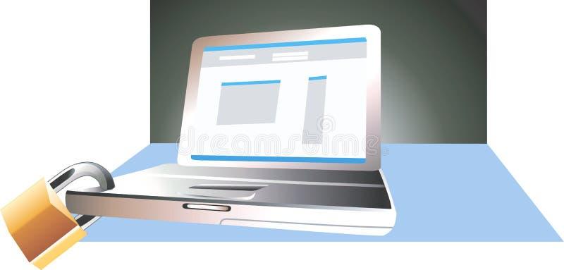 Computer portatile e serratura illustrazione vettoriale