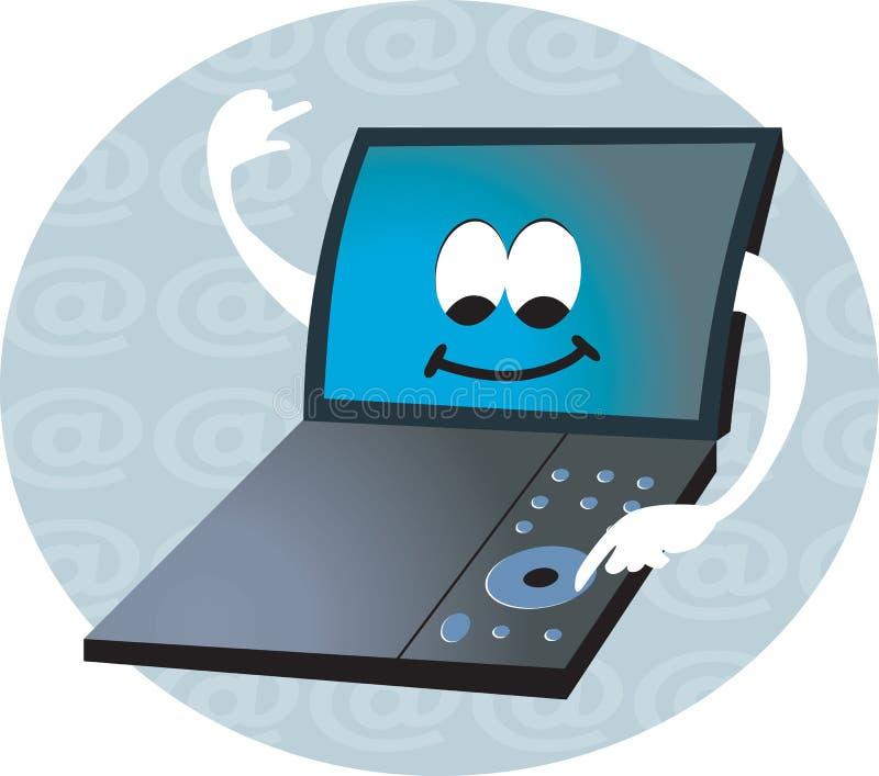 Computer portatile ed Internet illustrazione vettoriale