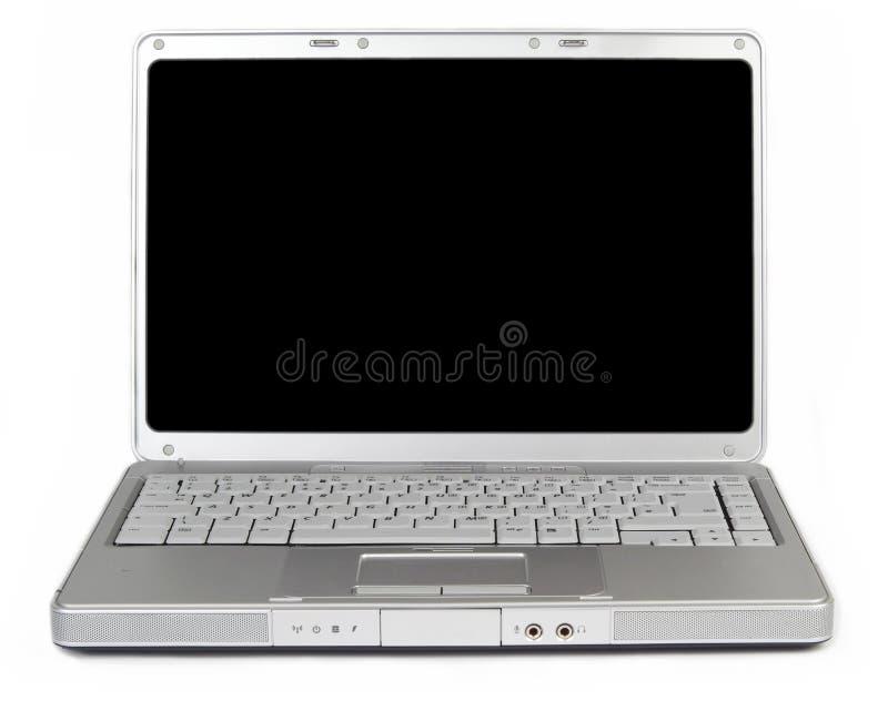 Computer portatile a grande schermo moderno immagini stock libere da diritti