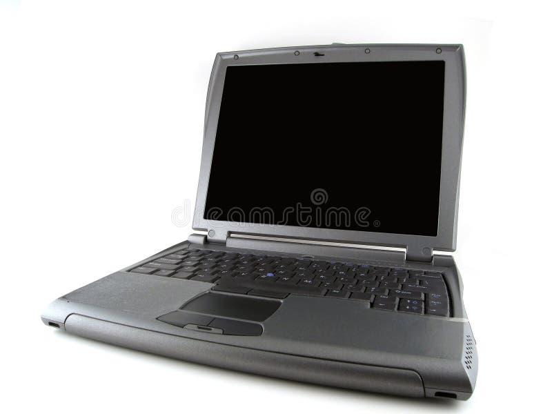 Computer portatile grigio fotografia stock libera da diritti