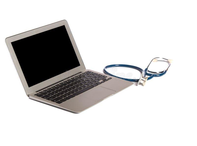 Computer portatile isolato immagini stock