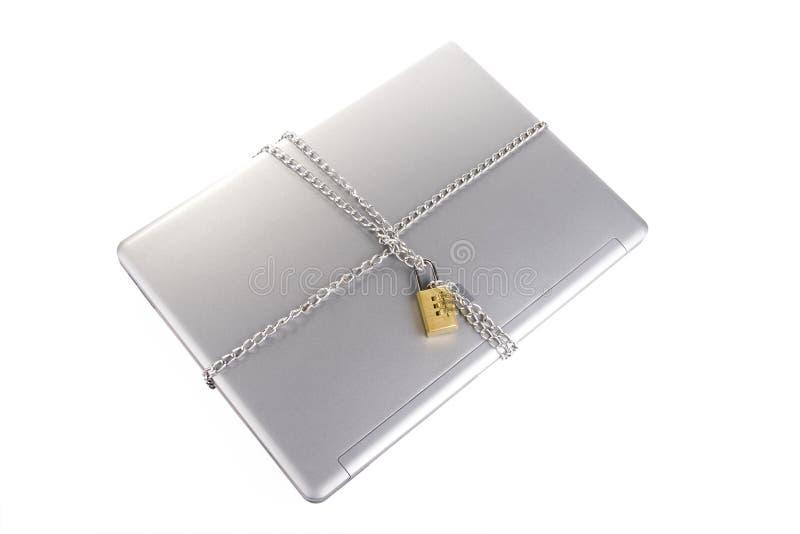 Computer portatile Locked fotografie stock libere da diritti