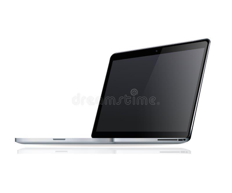 Computer portatile lucido moderno royalty illustrazione gratis