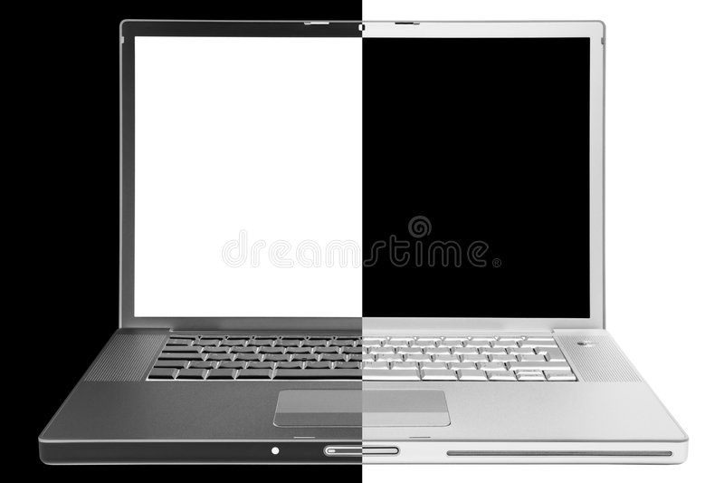 Computer portatile moderno fotografia stock