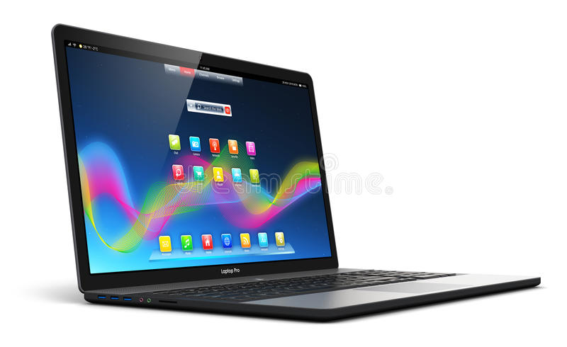 Computer portatile moderno illustrazione di stock