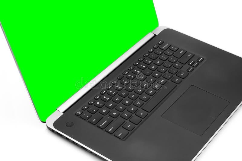 Computer portatile moderno di affari fotografia stock libera da diritti