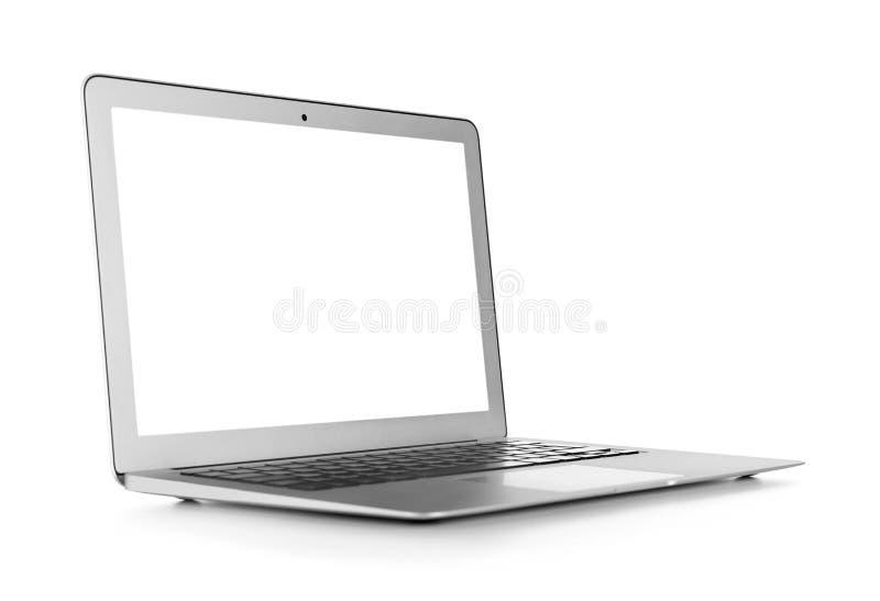 Computer portatile moderno isolato fotografie stock libere da diritti