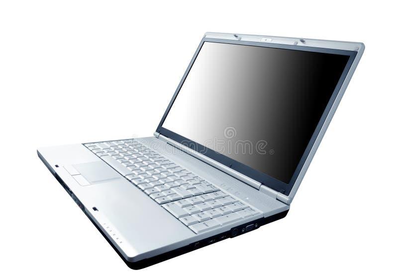 Computer portatile moderno isolato sul bianco fotografia stock