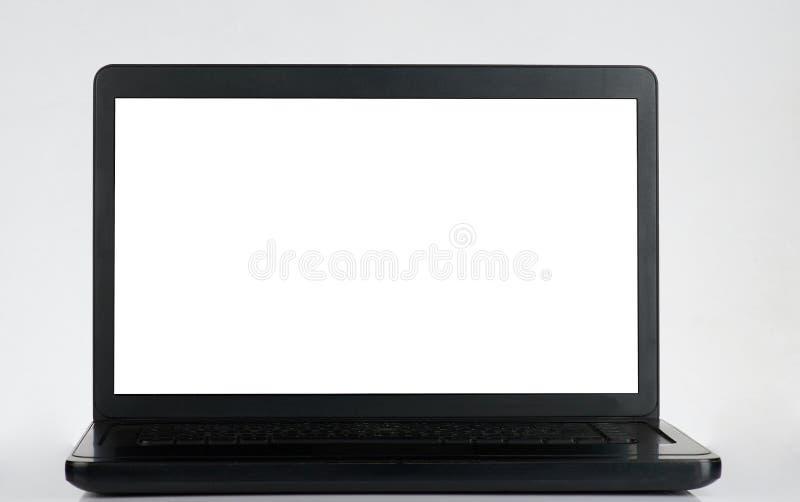 Computer portatile moderno nero immagini stock