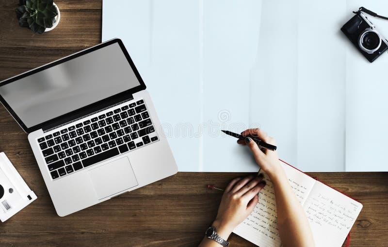 Computer portatile, progettazione, Netbook, tastiera di computer fotografia stock