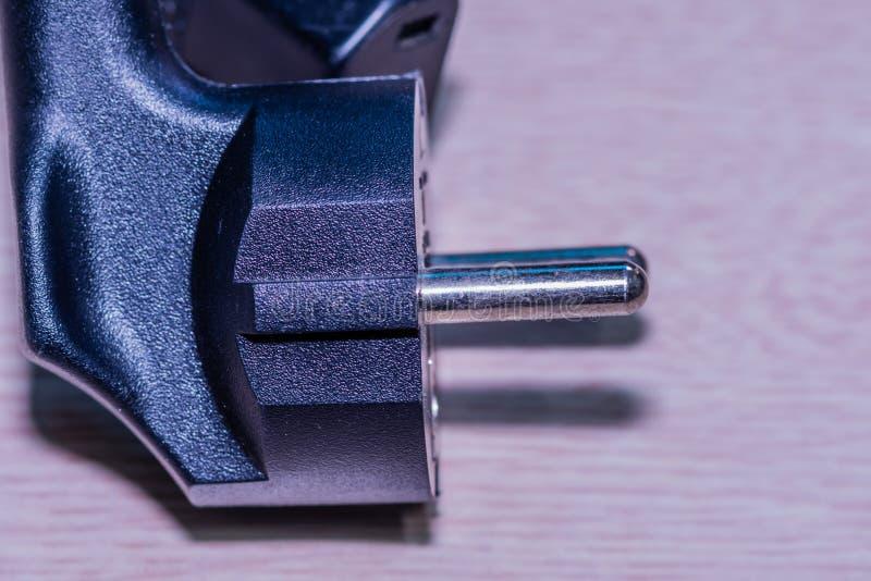 Computer power cord plug stock photography