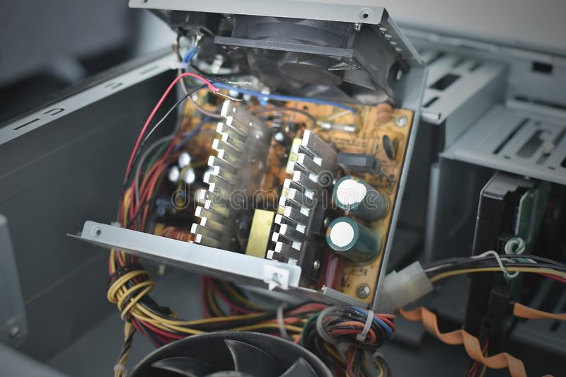 Computer power supply. stock image