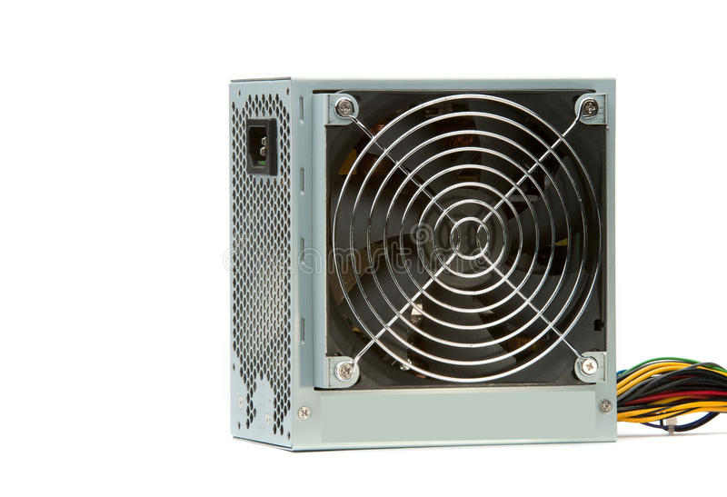 Computer power supply and fan. royalty free stock photography