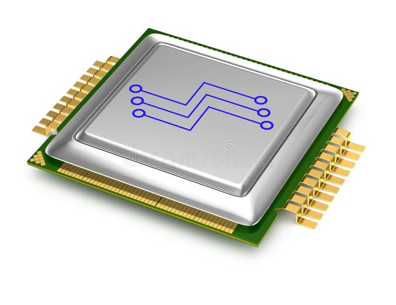 Download Computer processor stock illustration. Illustration of nobody - 26425373