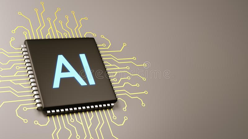 Computer Processor Artificial Intelligence Concept vector illustration