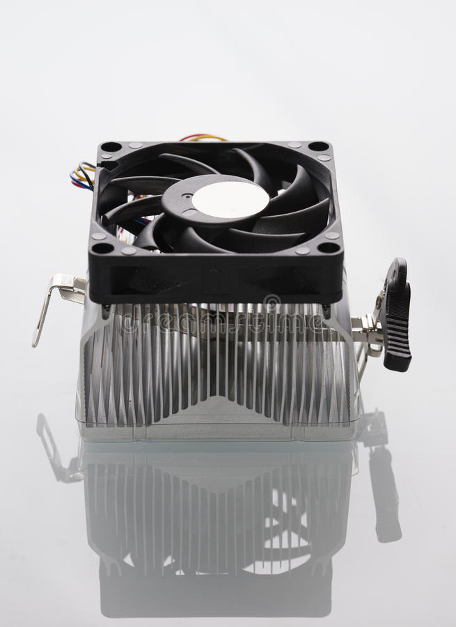 Computer processor cooler royalty free stock photo