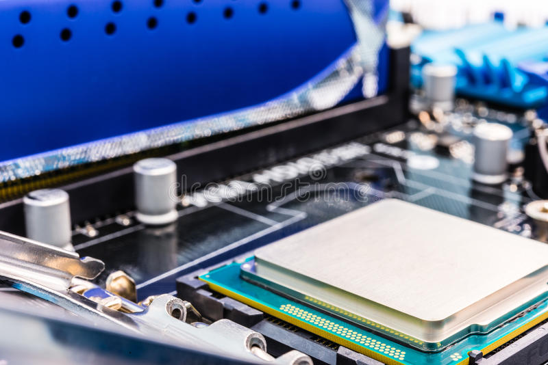 Download Computer Processor In Socket Close-up Stock Image - Image: 33650271