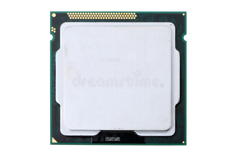 Download Computer Processor On White Stock Image - Image: 21864857