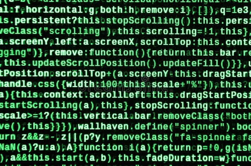 Computer program preview. Programming code typing. Information technology website coding standards for web design vector illustration